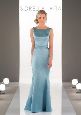 CLASSIC SATIN BRIDESMAID DRESS 8918